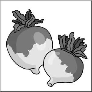 Clip Art: Turnips Grayscale I abcteach.com.