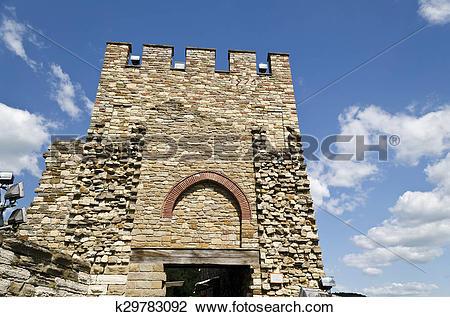 Stock Photo of Main gate of Tsarevets fortress, Veliko Tarnovo.