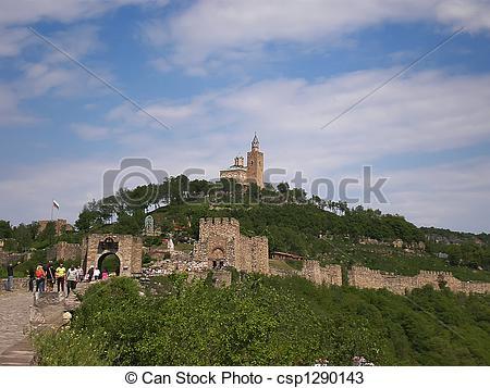 Stock Photos of Tsarevets fortress ruins in Veliko Turnovo.