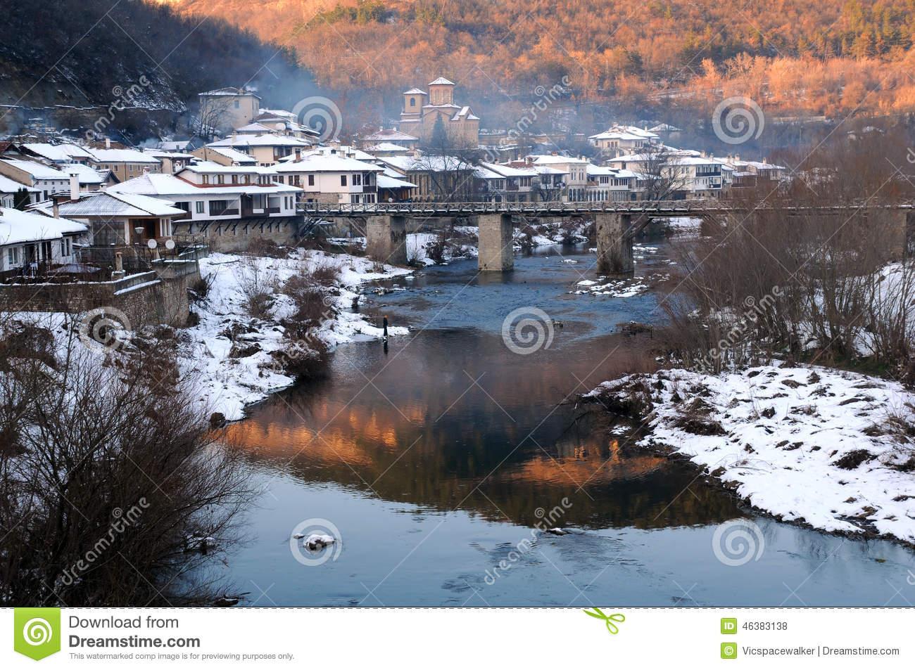 Veliko Turnovo In The Winter Stock Photo.