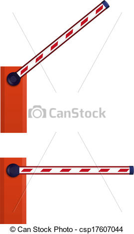 EPS Vector of Orange automatic barrier csp17607044.