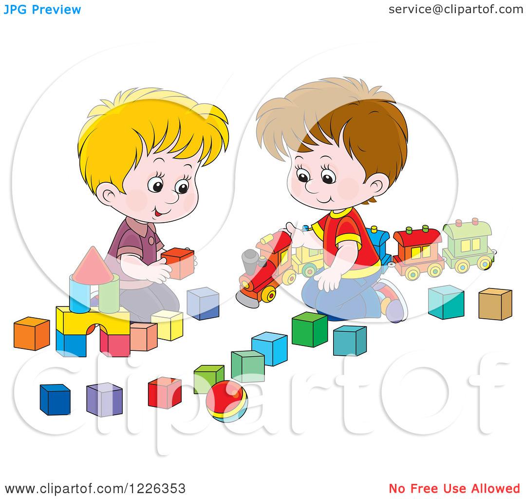 Kids Taking Turns Clipart Sharing Toys Clip Art #SPN6uF.
