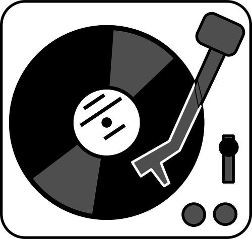 Simple turntable vector clip art.