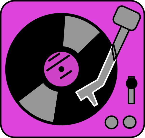 Purple Turntable Clip Art at Clker.com.