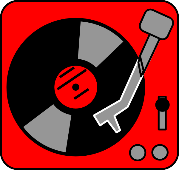 Turntable Red Clip Art at Clker.com.