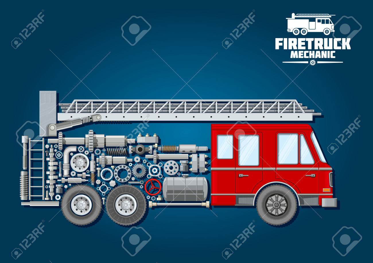 Turntable ladder clipart #18
