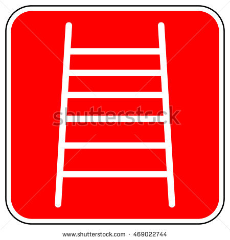 Red Ladder Stock Photos, Royalty.
