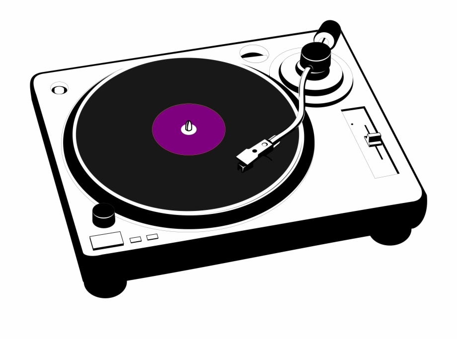 Phonograph Disc Jockey Clip Art Cartoon Turntable.