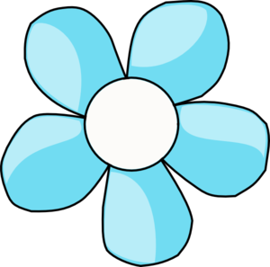 Turquoise Flower White Center Clip Art at Clker.com.