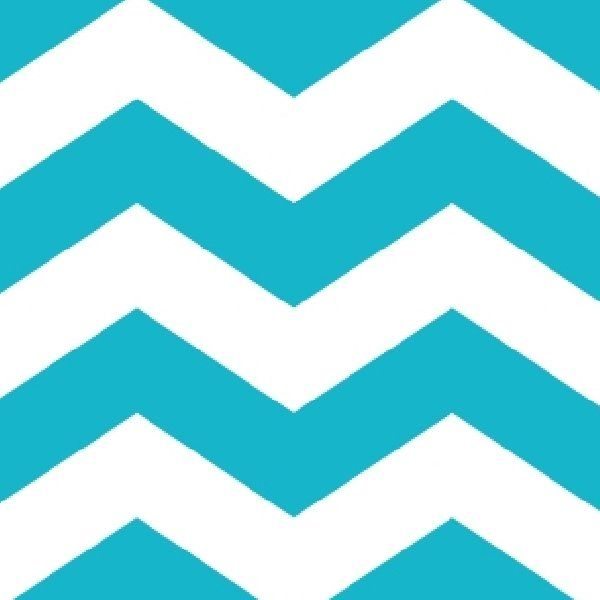 Turquoise And White Chevron Clipart.