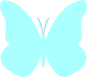 Bright Butterfly Turquoise Clip Art at Clker.com.