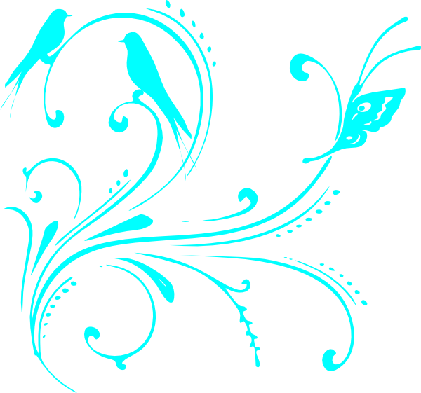 Turquoise Clip Art Vector.