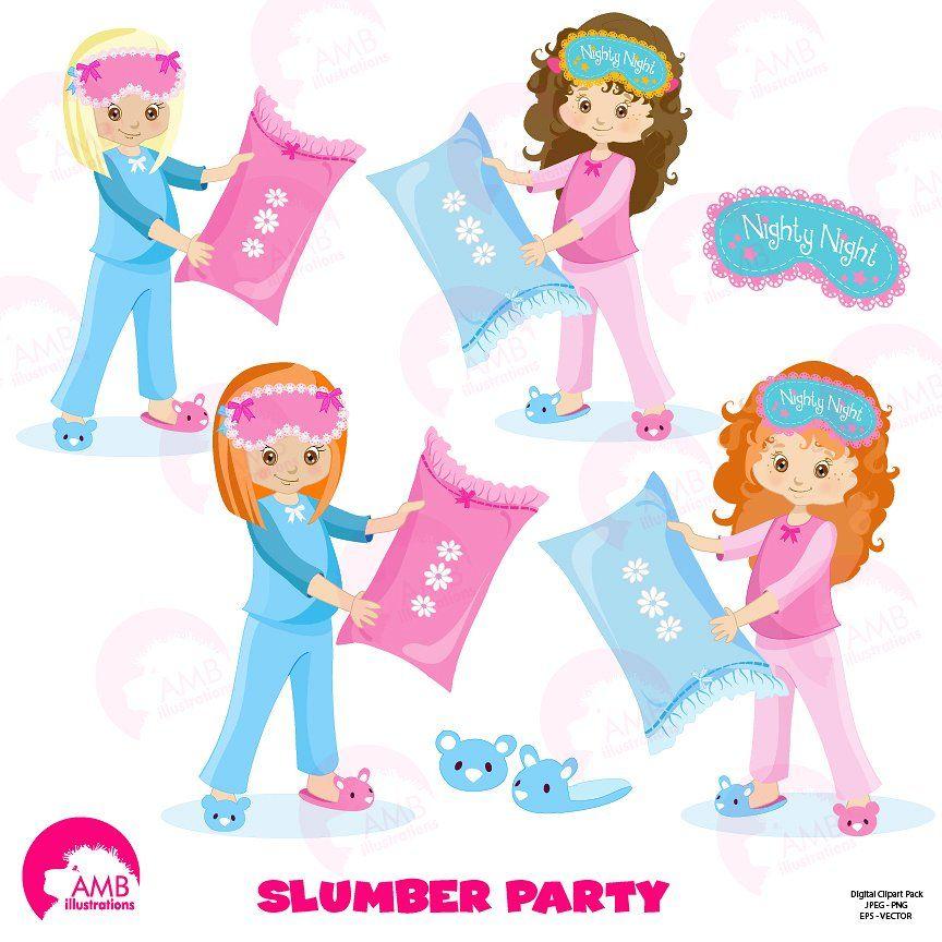 Slumber Party Clipart AMB.