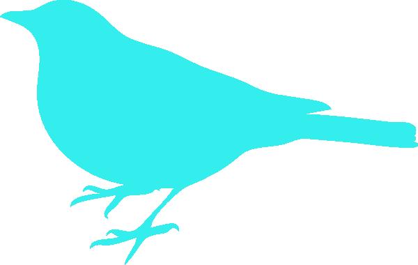 Aqua Bird Clip Art at Clker.com.