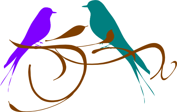 Love Birds Purple And Teal Clip Art at Clker.com.