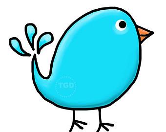 Preppy bird clip art.