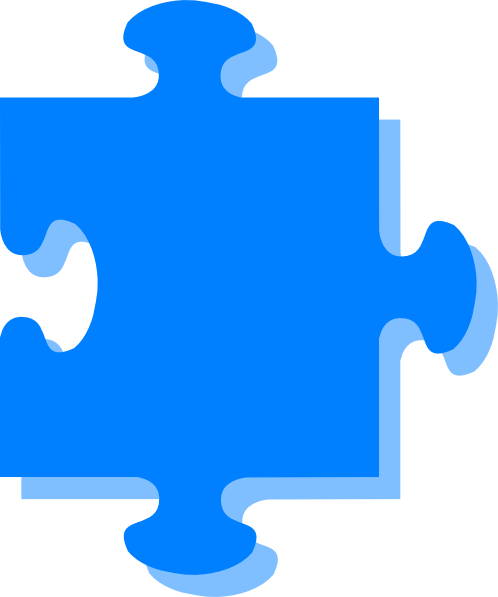 Blue Puzzle SVG Downloads.
