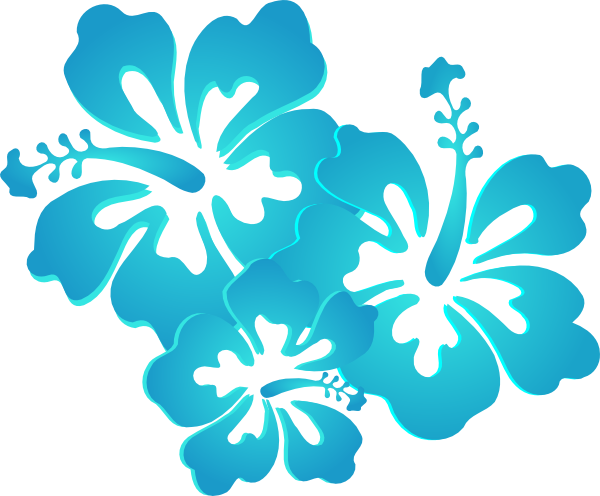 Turquoise Flower Clipart.