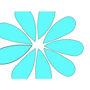 Turquoise Daisy Flower clipart, cliparts of Turquoise Daisy Flower.