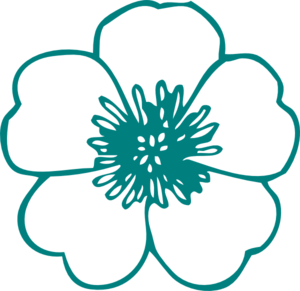 Turquoise Flower Clip Art at Clker.com.
