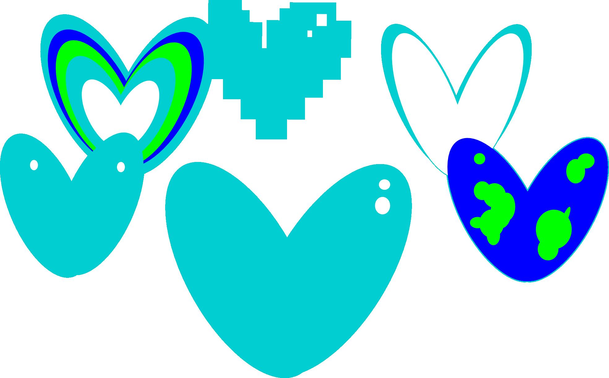 clipartist.net » Clip Art » Hart Heart Colour Dark Turquoise.