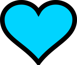 Turquoise Heart Clipart.