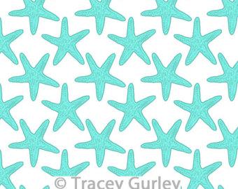 Turquoise starfish.