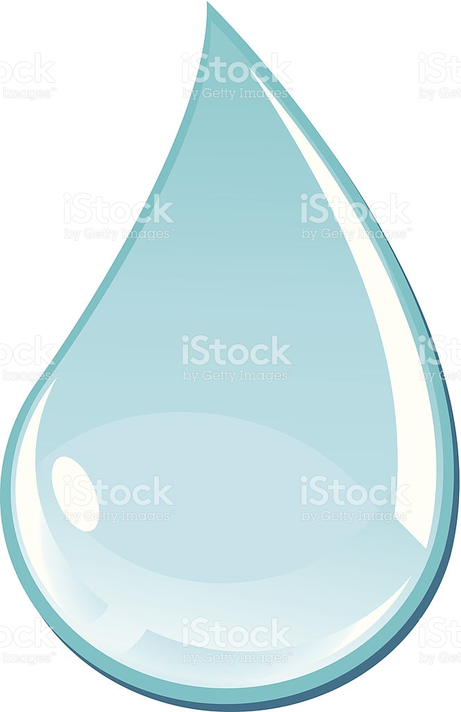 Turquoise Water Drop Illustration stock vector art 503787253.