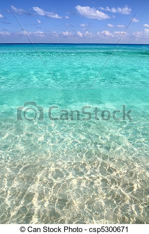 Stock Photography of caribbean tropical beach clear turquoise.