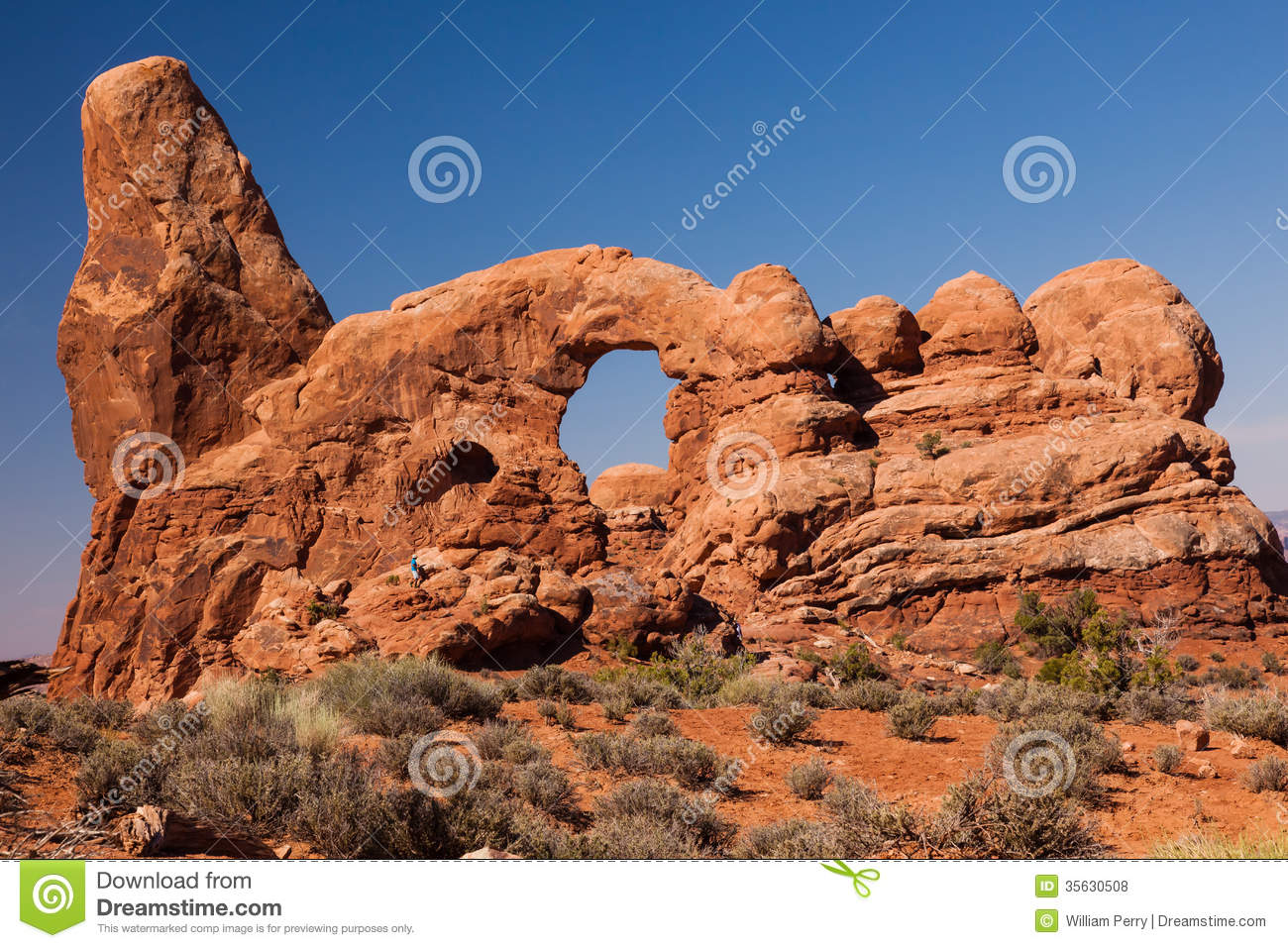 Turret Arch Rock Canyon Arches National Park Moab Utah Royalty.