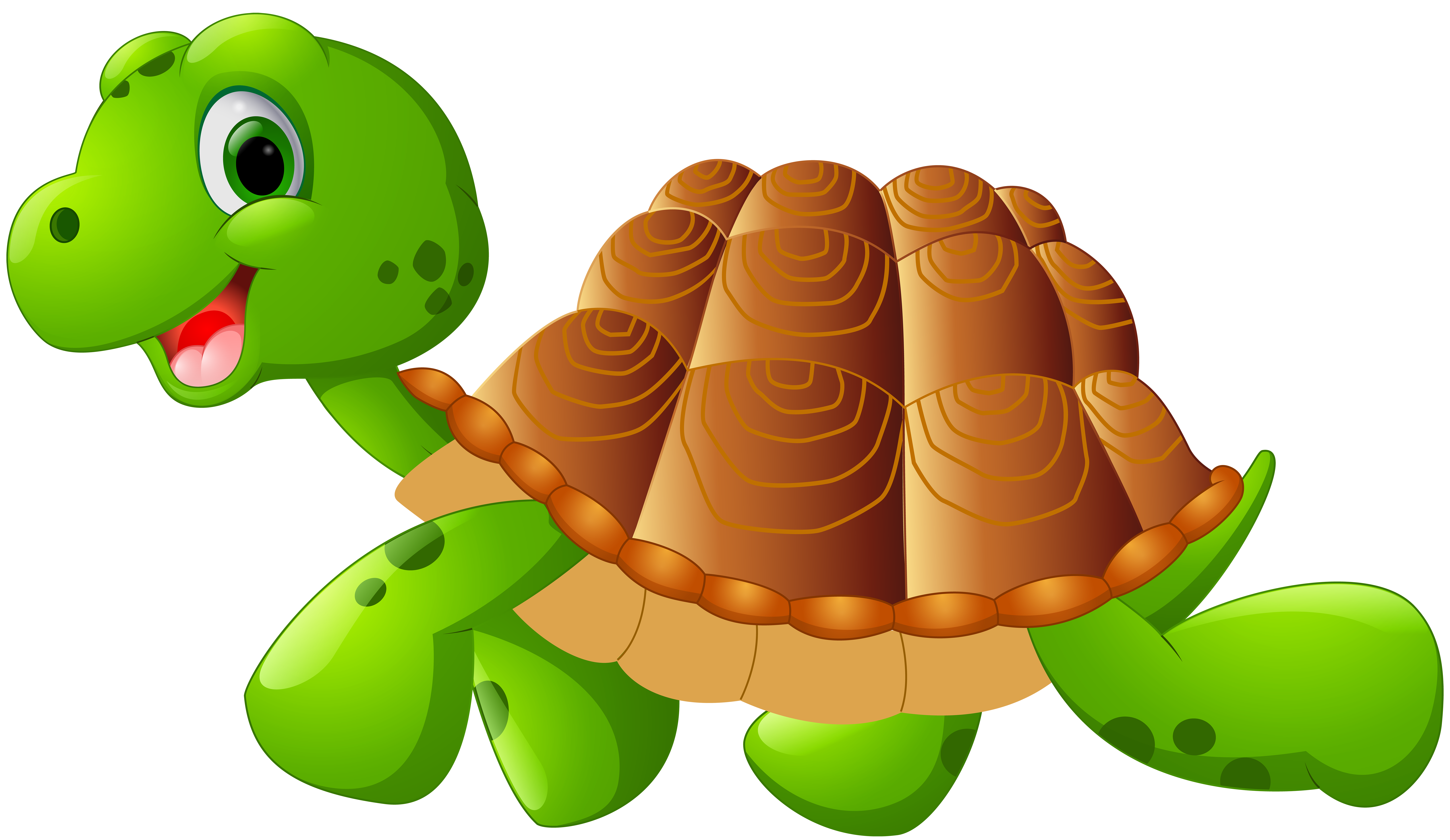 Turtle Cartoon PNG Clip Art Image.