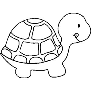 Turtle Clipart Outline.