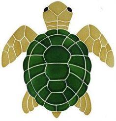 Glass Mosaic Sea Turtles.