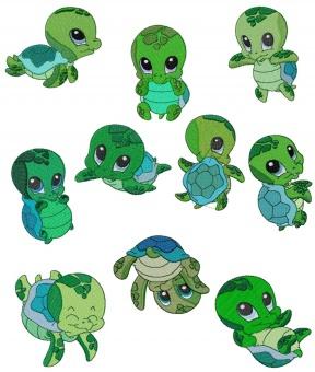 Hawaiian Turtle Clipart.