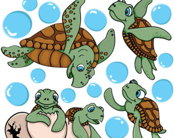 Turtle family decal.