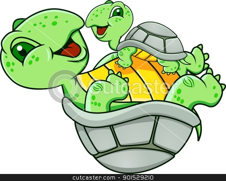 Turtle Family Clipart.