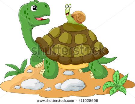 Cartoon Turtle Frog Stock Vector 414582970.