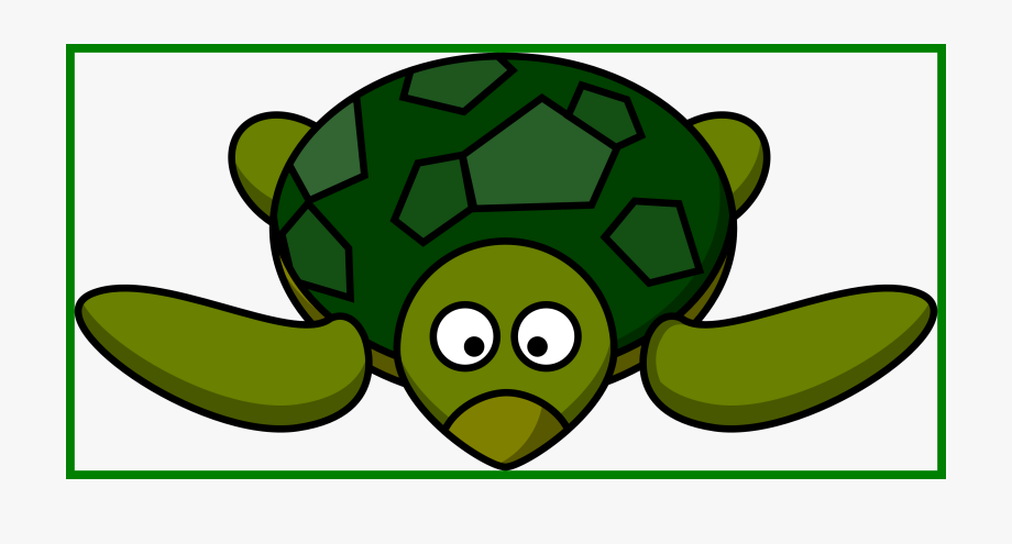 Cute Turtle Clipart Black And White.