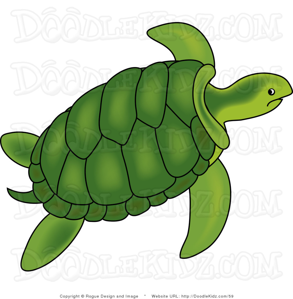 Hawaiian Sea Turtle Clipart.