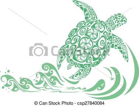 Vector of Green Turtle.