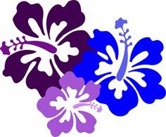 Hawaii flowers clip art.
