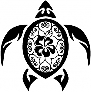 Turtle flower clipart.