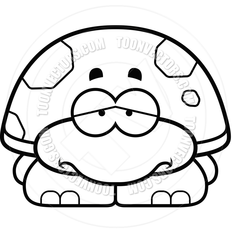 Sea Turtle Clipart Black And White.