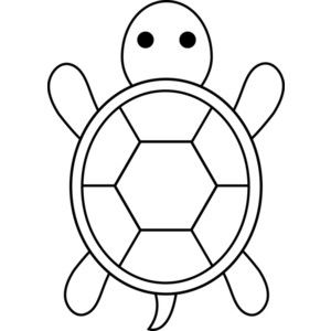 turtle outline clipart black and