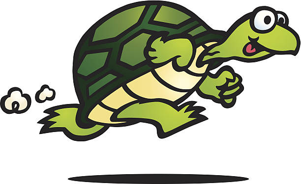Turtle Running Cliparts.