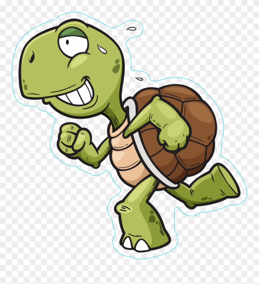 Turtle Running Clipart.