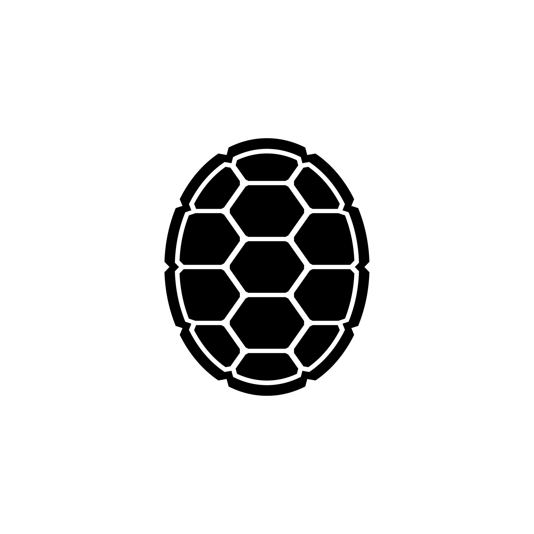 Slider Turtle Red Outline Clipart.