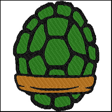 Ninja turtle shell clipart.