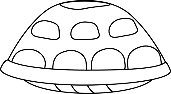 Black and White Turtle Shell Clip Art.