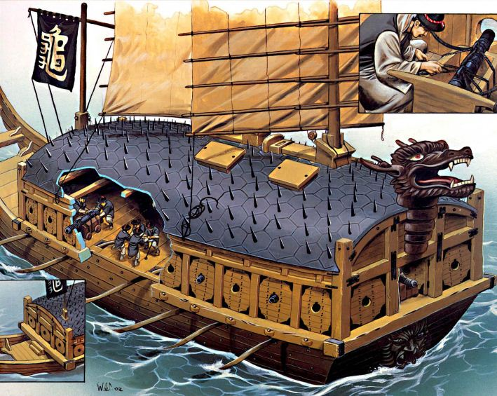 GREAT WARSHIPS OF HISTORY: KOREAN TURTLE SHIP.